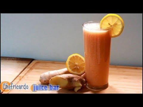 Melon drink melon drink ginger lemon Chef Ricardo Juice Bar