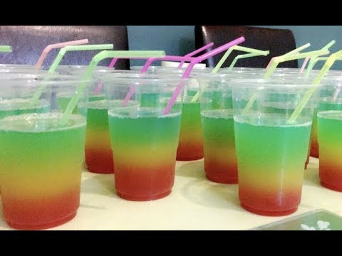 How to make this Rainbow drink