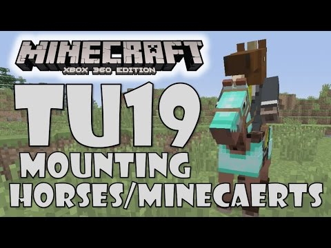 Minecraft (Xbox/PS) TU19 How To Dismount Horses/Minecarts