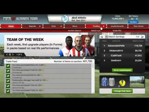 Fifa 13 Ultimate team - how to increase your coins ( description )