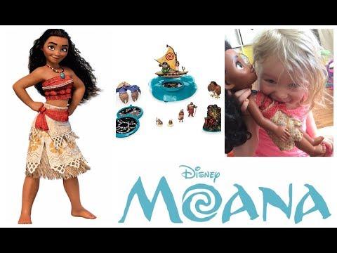 MOANA MAUI TOYS Projection Boat Playset Disney Moana movie   Princesses toy surprises