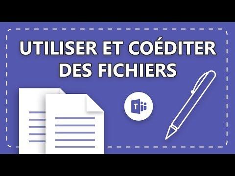 Utiliser et coéditer des fichiers