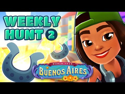 🦄 Subway Surfers Weekly Hunt - Collecting Shiny Horse Shoes in Buenos Aires (Week 2)