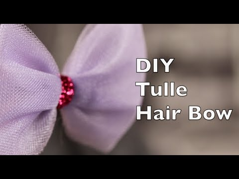 How To Make A Hair Bow Using Tulle
