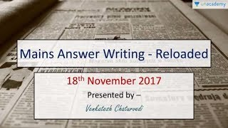 Answer Writing Solved Examples for UPSC Aspirants - General Studies Mains 18th October 2017