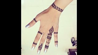 #x202b;رسم حنة على اليدين بالشريط للبنات#x202c;lrm;