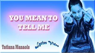 Tatiana Manaois - Simple & Sweet (Lyrics Video)
