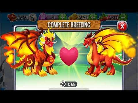 Pure Flame Dragon vs Flame Dragon | Dragon City [EXCLUSIVE BREEDING DRAGON]