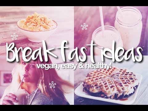 Breakfast Ideas For School! Easy, Vegan & Healthy