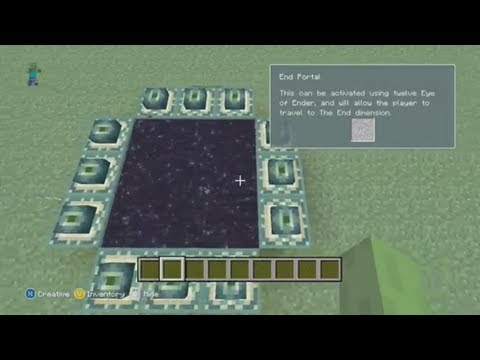 Minecraft Tutorial: How To Make An END Portal [Xbox 360 Edition]