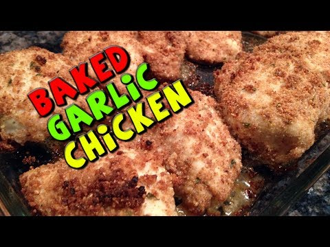 Baked Garlic CHICKEN Recipe (Healthy/Bodybuilding)