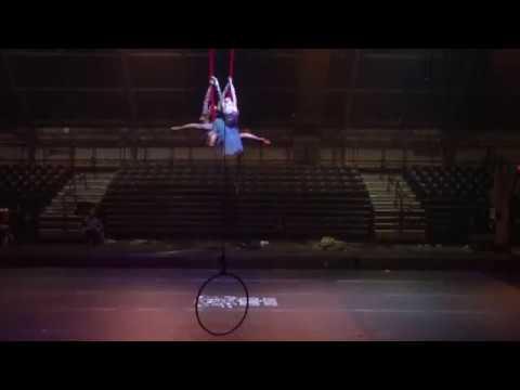 Lindsey performing in 2 girl aerial hammock | Dance Circus Me