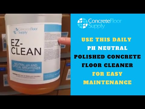 Ez Clean. Daily concrete floor cleaner