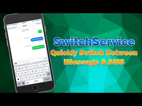 Quickly Switch Between iMessage and SMS | SwitchService Cydia Tweak Review