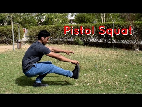 How to Pistol Squat in Hindi - Easy Beginner Progression Steps - Vikas Choudhary