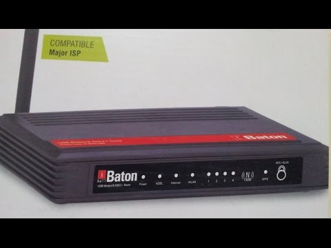 How to change Wifi Password in iBallBaton iBWRA150N ADSL WiFi modem router