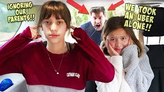 WE IGNORED OUR PARENTS AND TOOK AN UBER ALONE!!