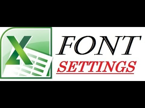 How To Set or Change Fonts in Excel 2010 2013 2007