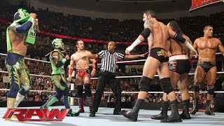 The Lucha Dragons & Neville vs. The League of Nations: Raw, February 15, 2016