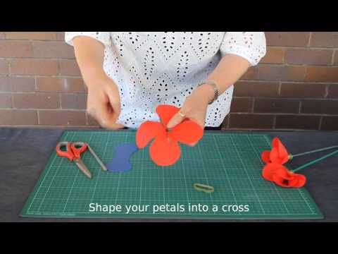 How to make a Poppy - suitable for school aged children