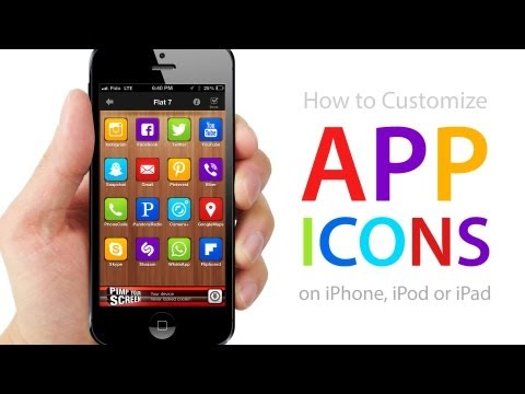 How to CUSTOMIZE APP ICONS on iPhone, iPod, iPad (No Jailbreak Required)