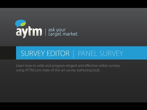 How to write and program a survey – Panel Survey Editor | AYTM Market Research