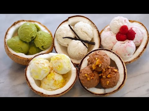 5 NEW Ice Cream Flavors + Dairy-Free Coconut Recipe: Homemade Ice Cream (No Machine)