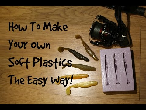 How to Make Soft Plastics The Easy Way| Fishing my own baits!