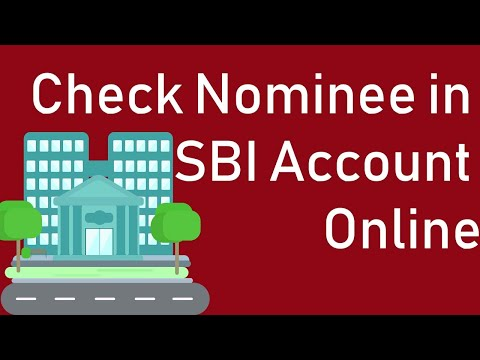 How to Check Nominee in SBI Account Online