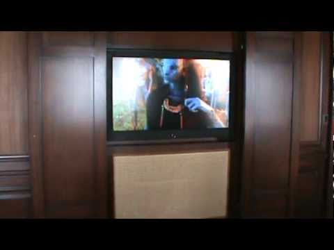55 inch Samsung with Yamaha surround projector and subwoofer installation