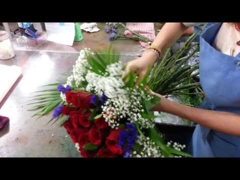 How to Make Roses Hand Bouquet | 21 Roses | Florist in Singapore
