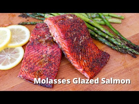Molasses Glazed Salmon Recipe | Salmon Filets Grilled on Traeger Grill