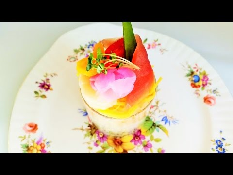 How to Make and Decorate Chirashi Sushi   Clear Cup ちらし寿司の作り方