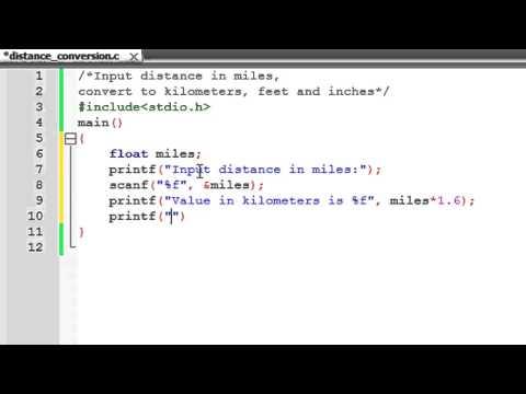 C Programming Tutorial - 14: Distance Conversion Program
