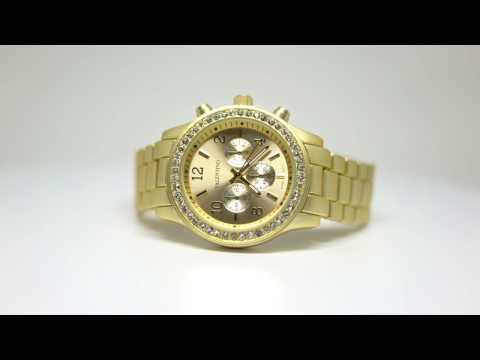 Valentino EXCALIBUR IP JUNIOR WOMEN STAINLESS BAND Strap Watch 20121726-GOLD