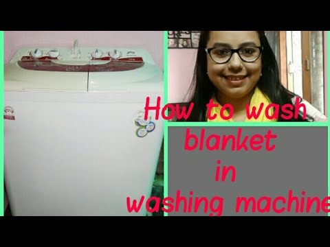 HOW TO WASH BLANKET IN WASHING MACHINE || SEMI AUTOMATIC WASHING MACHINE