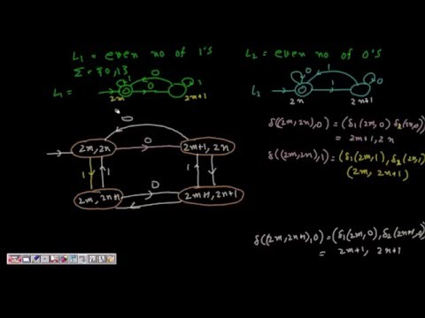 14 Deterministic Finite Automata(DFA) for Union, Intersection and Difference of two regular language