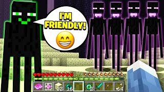 Download FINDING THE ONLY FRIENDLY ENDERMAN IN MINECRAFT! Video