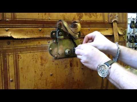 Interesting antique trunk lock
