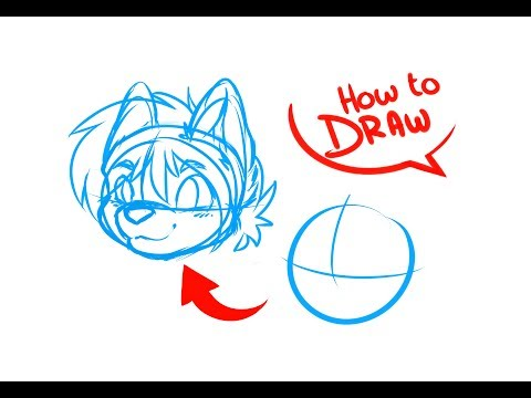 How To Draw Anime & Furry Heads   ART TUTORIAL