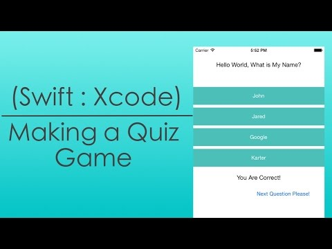 Making a Quiz Game (Swift : Xcode)