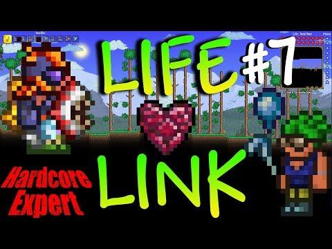 Terraria Expert Hardcore Life-Link w/ NoWayLarry  #7