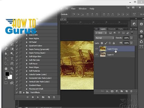 How to Use Adobe Photoshop Actions and Action Sets -  CS5 CS6 CC Tutorial