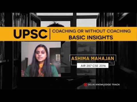 UPSC | How to prepare for CSE without coaching | By Ashima Mahajan | AIR 287 CSE 2016