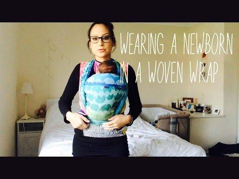 HOW TO WEAR A NEWBORN IN A WOVEN WRAP FWCC (PLUS BABYWEARING FLEECE)