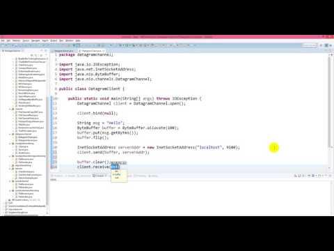Java NIO - Transfer data using DatagramChannel