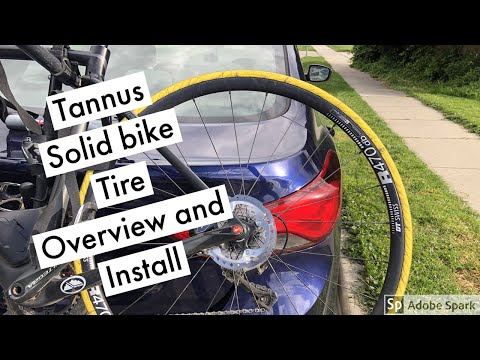 Tannus Solid Bike Tire, Overview and install. First look. No more flats