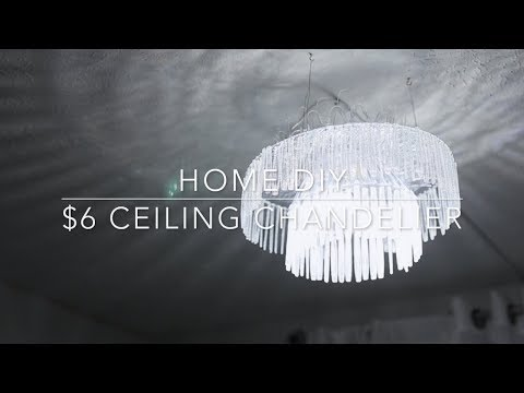 HOME DIY   $6 CHANDELIER