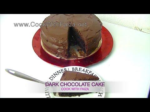 DARK CHOCOLATE CAKE *COOK WITH FAIZA*
