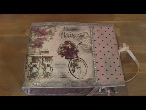 DIY dress a box file with butcher paper 3/Ντύνω κλασέρ με χασαπόχαρτο 3